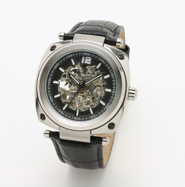 【サルバトーレ・マーラ】自動巻き時計・懐中時計にも! SM18114-SSBKメンズ Salvatore Marra サルバトーレマーラ