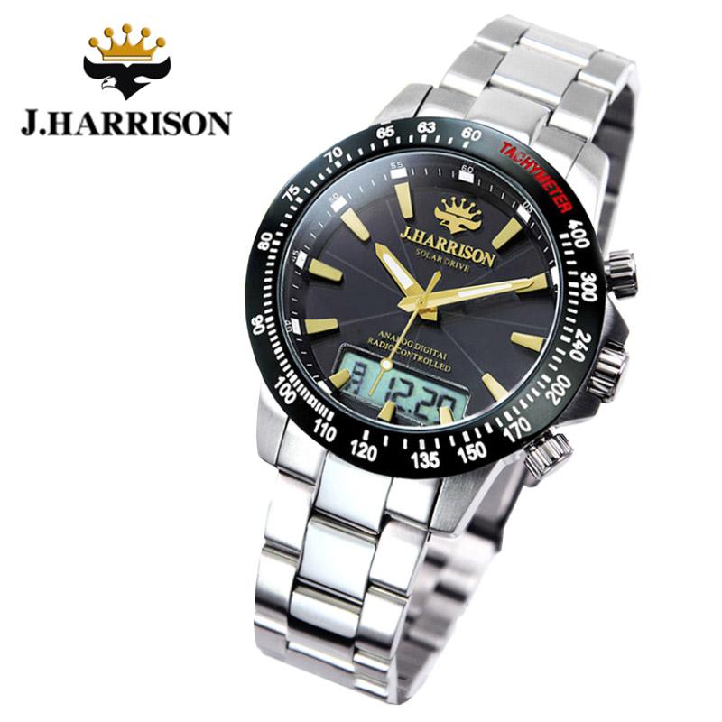 ジョン・ハリソン[J.HARRISON]デジアナ式 多機能付ソーラー 電波腕時計 JH-094GB メンズ 紳士用
