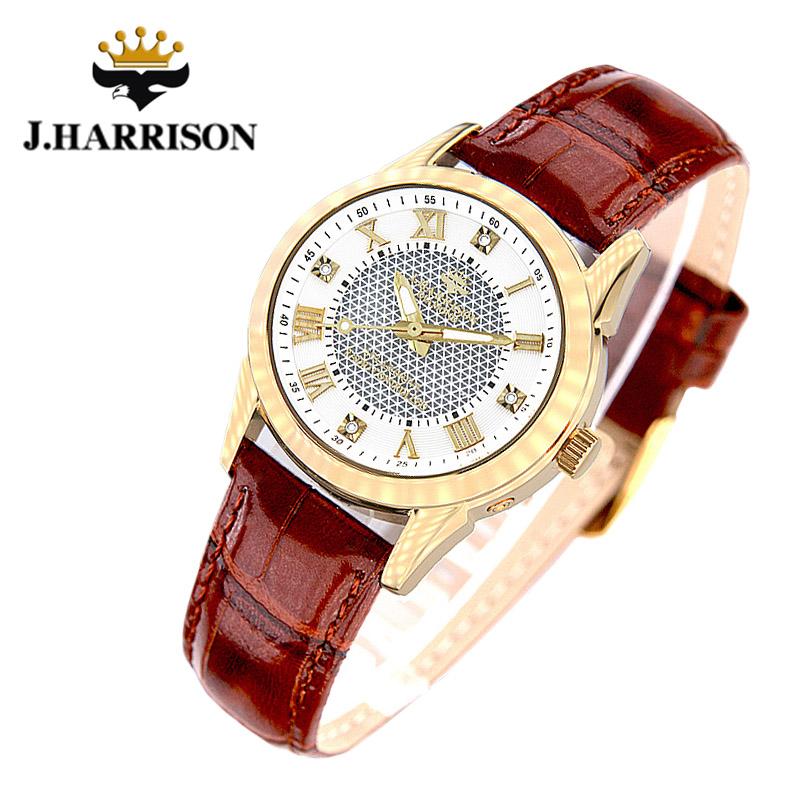 ジョン・ハリソン[J.HARRISON] 4石天然ダイヤモンド付・ソーラー電波時計JH-085LGW レディース 婦人用