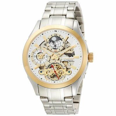 ジョン・ハリソン[J.HARRISON] 両面スケルトン自動巻&手巻紳士用腕時計 JH-043GW メンズ 紳士用