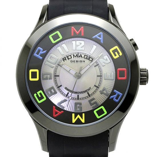 【ロマゴデザイン】腕時計 RM015-0162PL-BKCLユニセックス メンズ レディース ROMAGODESIGN 正規品 新作 人気 流行 ブランド