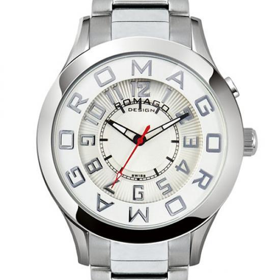 【ロマゴデザイン】腕時計 RM015-0162SS-SVWHユニセックス メンズ レディース ROMAGODESIGN 正規品 新作 人気 流行 ブランド