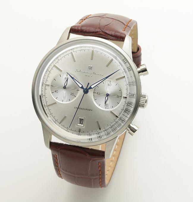 【サルバトーレ・マーラ】クオーツ時計・デイト表示 SM19106-SSSVメンズ Salvatore Marra サルバトーレマーラ