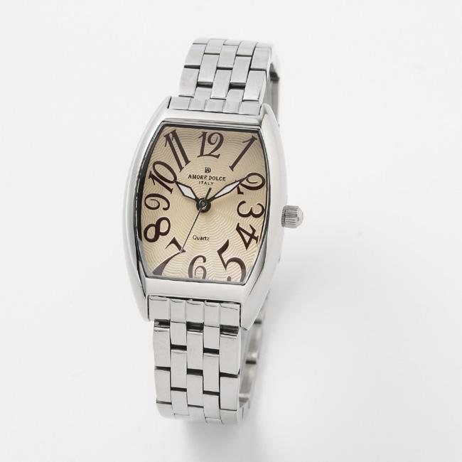 【アモーレ・ドルチェ】レディース腕時計 AD18302SS-SSIVAMORE DOLCE メタルバンド クオーツ 誕生日プレゼント 女性 クリスマス ギフト