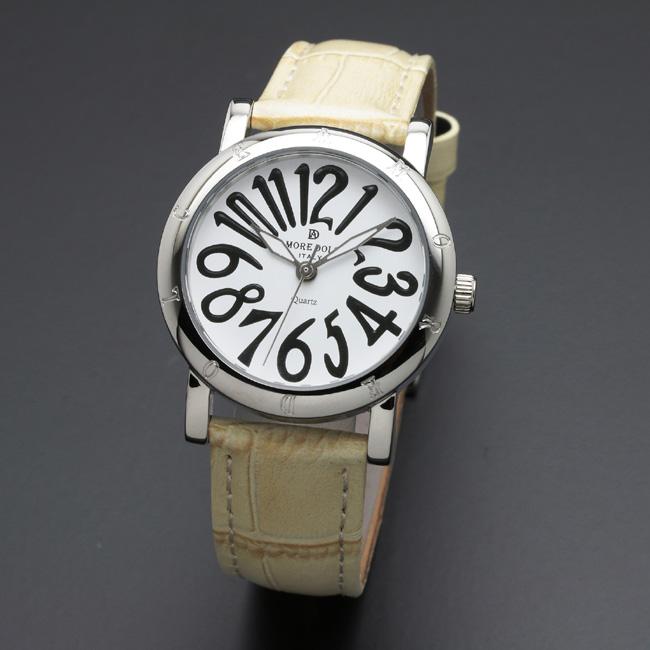 【アモーレ・ドルチェ】レディース腕時計 AD18303-SSWH/IVAMORE DOLCE 革ベルト クオーツ 誕生日プレゼント 女性 クリスマス ギフト