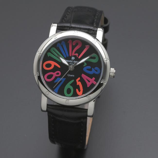 【アモーレ・ドルチェ】レディース腕時計 AD18303-SSBKCL/BKAMORE DOLCE 革ベルト クオーツ 誕生日プレゼント 女性 クリスマス ギフト
