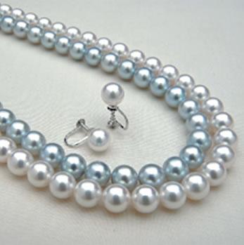 伊勢志摩産8~8.5mm珠本真珠ネックレスセット