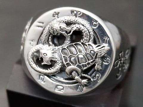 【四神:玄武/太極図】 Silver925 リング