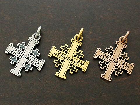 大幅にプライスダウン 送料無料 新品未使用 INRI エルサレム十字 Silver925 古美仕上 ペンダントトップ クロス