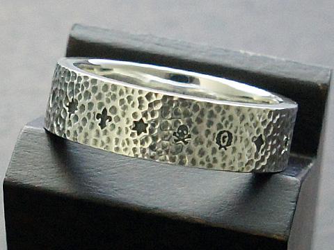 【rmd classic】【ジャギッドロック/M2】 SV925/ブラックダイヤモンド リング