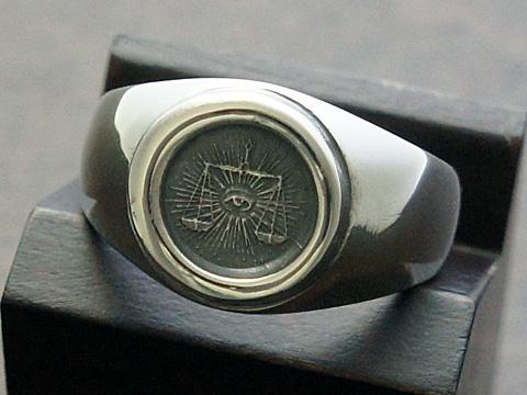 【rmd classic】【フリーメイソン】 SV925/ブラックダイヤモンド リング