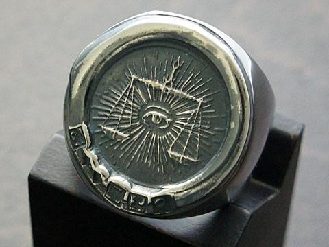 【rmd classic】【ヘヴィ/フリーメイソン】 SV925/ブラックダイヤモンド リング