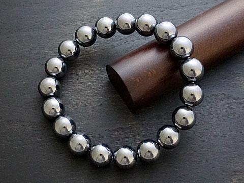 【人工鉱石テラヘルツ/高純度99%シリコン】 ブレスレット 10mm