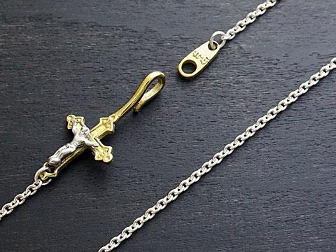 送料無料 新品 送料無料 good vibrations イエス キリスト チェーン Silver925 Brass 48cm 大幅値下げランキング クロス
