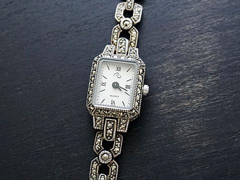 【Rokuzan/碌山】 Silver925/マルカジット アンティークデザイン/腕時計
