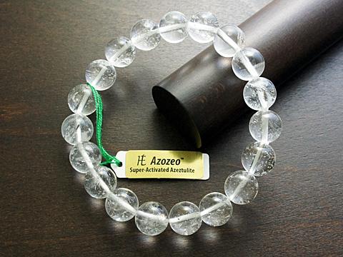 【15SS】 10mm 【H&E】 ◎ AAAAAレッドファイアーアゼツライト ロバートシモンズ氏からの正規輸入品 一連ブレスレット (アゾゼオ) ※ギャランティーカード2枚付き