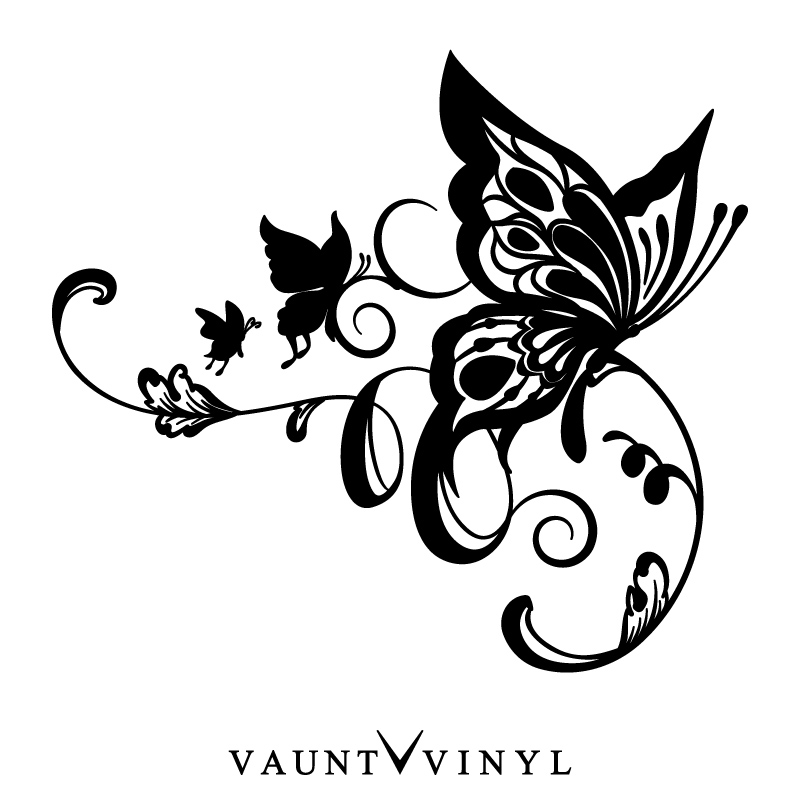 vaunt vinyl sticker store  pretty right and left set
