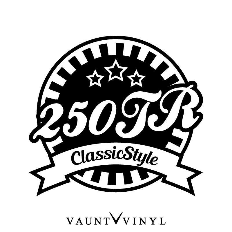 Vaunt Vinyl Sticker Store 250 Tr Classicstyle Cutting Sticker Bike
