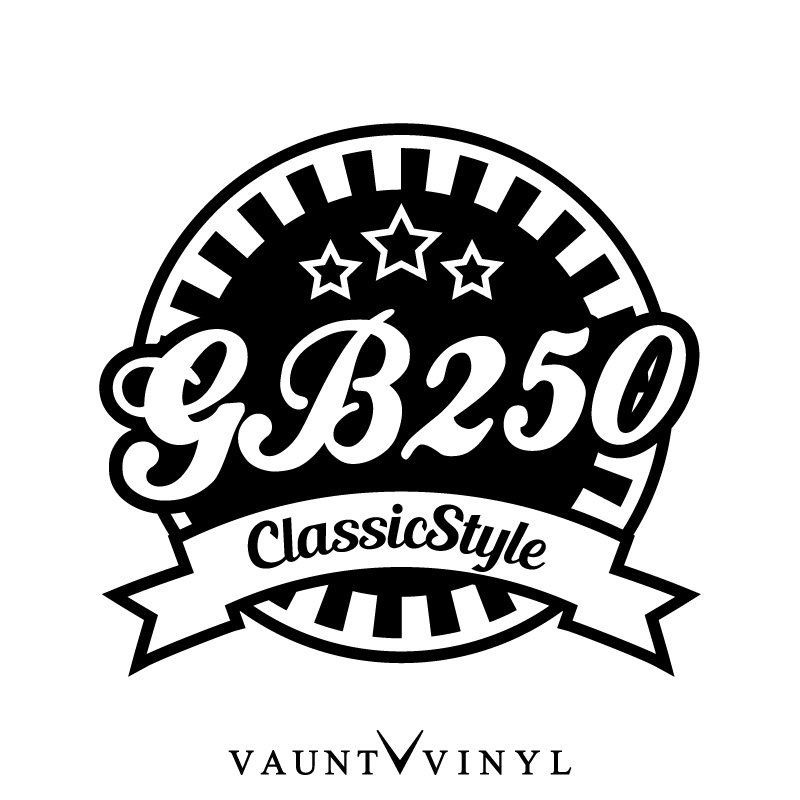 Vaunt Vinyl Sticker Store Gb250 Classicstyle Cutting Sticker Bike