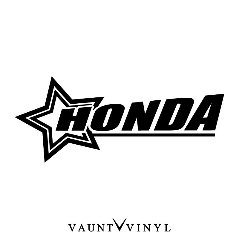 Vaunt Vinyl Sticker Store Star Honda Sticker Honda Cb400 Honda Pcx