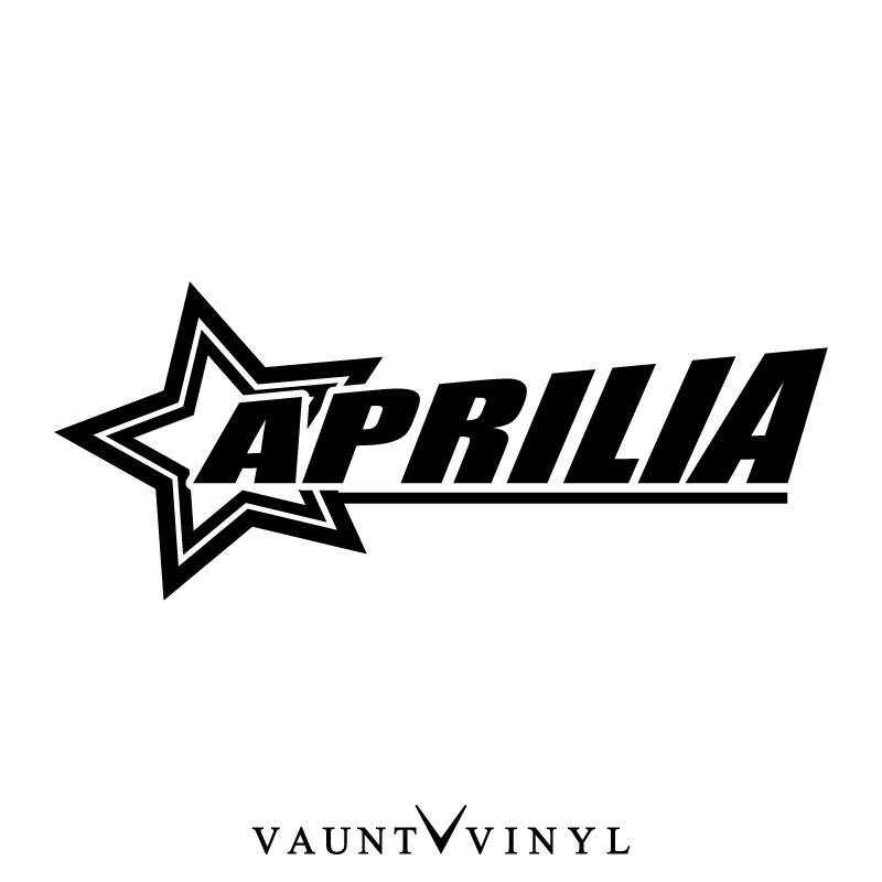 vaunt vinyl sticker store  star aprilia sticker aprilia frs125 sr50 rs50 rs125 rs250 rs4 125