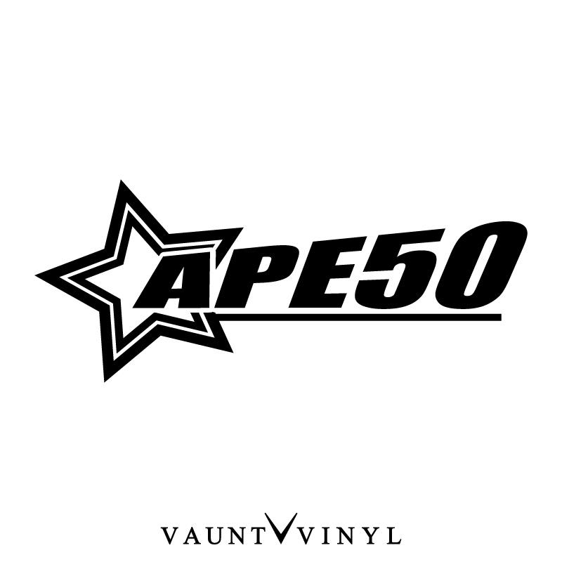 VAUNT VINYL sticker store: Star ape 50 stickers ape ape50