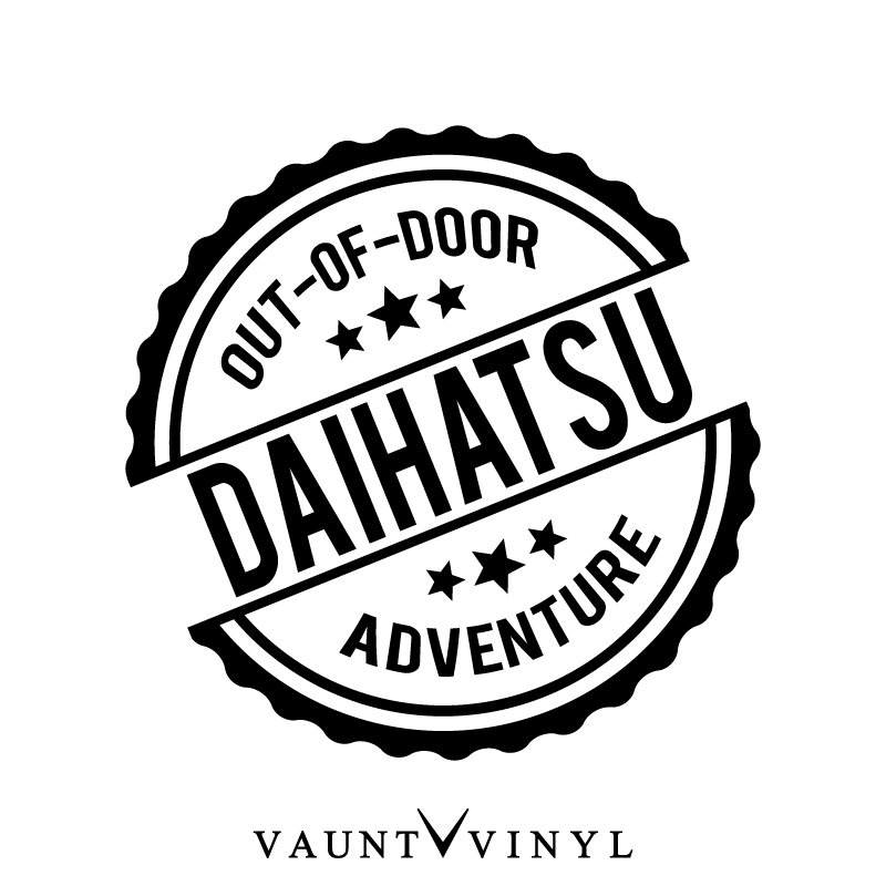 Vaunt Vinyl Sticker Store Out Of Door Daihatsu Daihatsu Cutting