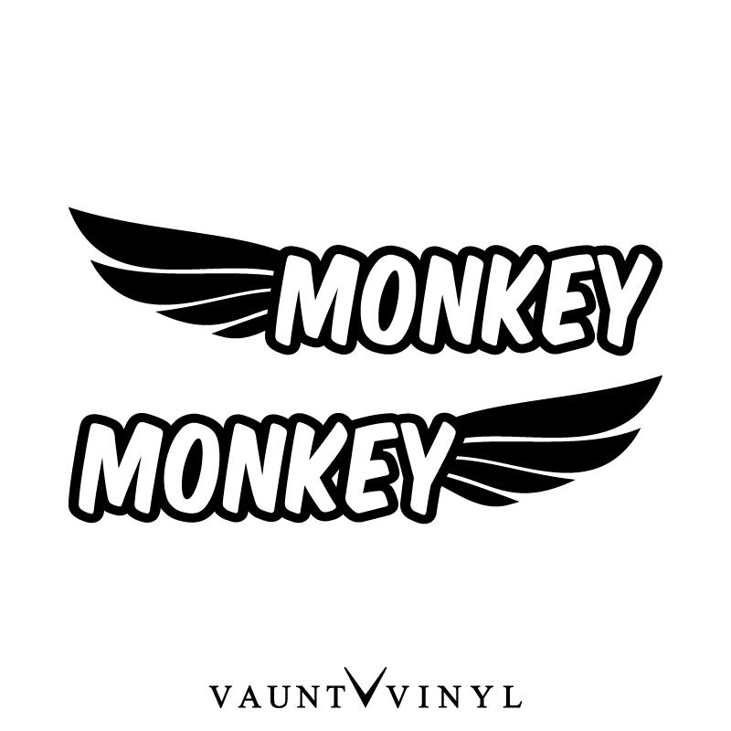 Wing Monkey Cutting Sticker Right And Left Set Monkey Monkey Parts Scarf Sheet Tank Honda Honda Motorcycle Sticker Bomb Sticker Decare Seal Custom
