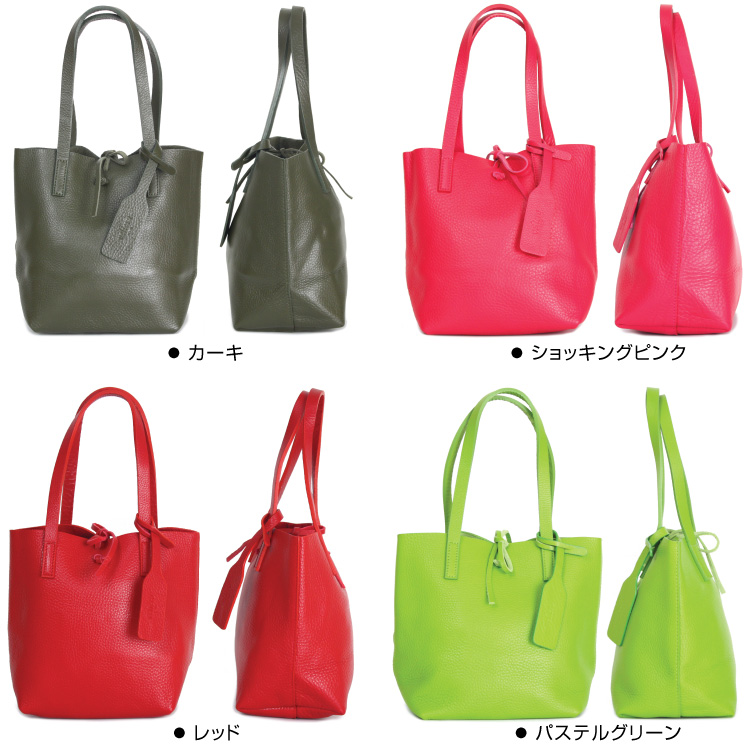Leather Handbags Italy Calf Hand Bag Type A Mini 20 Colors