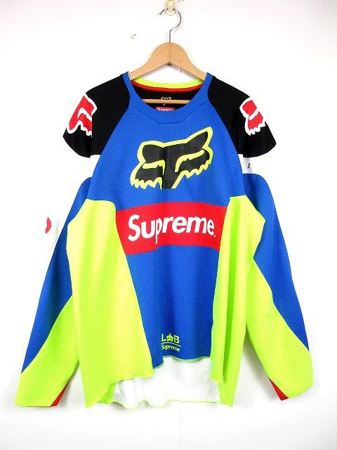 シュプリーム×フォックスレーシング SUPREME×FOX RACING 18SS Moto Jersey Top モトジャージ トップ 長袖 カットソー XL マルチカラー 22688 ☆AA★/B62 メンズ 【中古】【ベクトル 古着】 180718 ベクトル マークスラッシュ