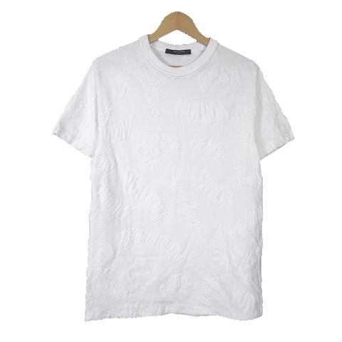 ルイヴィトン LOUIS VUITTON 18SS ジャカード タオリング Tシャツ シティロゴ カットソー S 白 ホワイト/H88 メンズ 【中古】【ベクトル 古着】 181222 ベクトル マークスラッシュ
