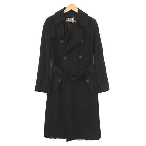 ジュンヤワタナベ コムデギャルソン JUNYA WATANABE 03AW カットオフ デザイン コート S 黒 ブラック JK-C007/p46 メンズ 【中古】【ベクトル 古着】 190320 ベクトル マークスラッシュ