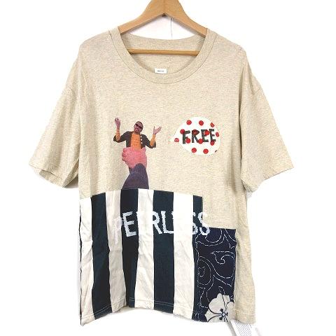 【中古】ビズビム VISVIM 美品 19SS JUMBO TEE S/S COLLAGE ジャンボ Tシャツ コラージュ 3 GREY/a93 メンズ 【ベクトル 古着】 200321 ベクトル マークスラッシュ