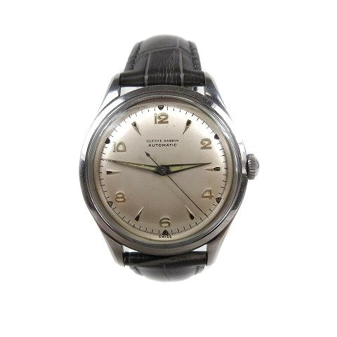 【中古】ユリスナルダン ULYSSE NARDIN アンティーク 腕時計 ウォッチ 自動巻き オートマチック シルバー/△M23 メンズ 【ベクトル 古着】 200322 ベクトル マークスラッシュ