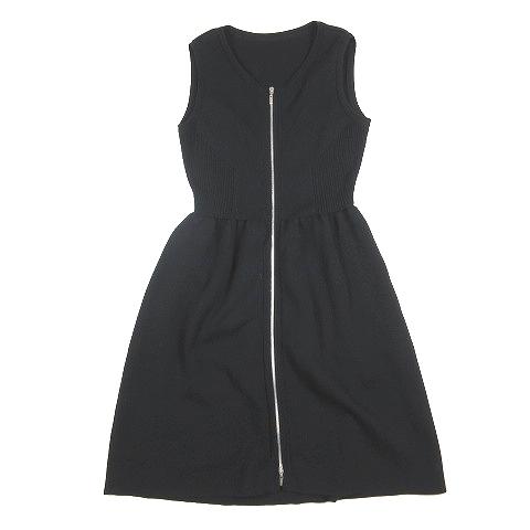 【中古】フォクシー FOXEY Shape Up Dress シェイプ アップ ドレス ノースリーブ ワンピース ロング ニット 40 黒 ブラック/4 レディース 【ベクトル 古着】 200630 ベクトル マークスラッシュ