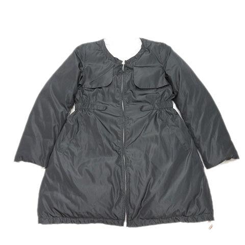 中古 ブルーベル Bule Bell ダウン コート リバーシブル ジャケット 人気の製品 ブルゾン ノーカラー 38 14 ベクトル 黒 レディース 驚きの値段で 古着 レディ 201228 ブラック マークスラッシュ ライトグレー