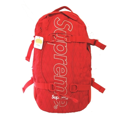 未使用品 18AW シュプリーム SUPREME BACKPACK リュック バッグ バックパック ナイロン 赤 レッド RED メンズ レディース 【中古】【ベクトル 古着】 190307 ベクトル マークスラッシュ