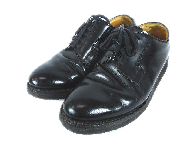 ダナー DANNER レザー ポストマン シューズ 革靴 ロゴ プレーントゥ POSTMAN SHOES 8 黒 ブラック メンズ/r1 メンズ 【中古】【ベクトル 古着】 181021 ベクトル マークスラッシュ
