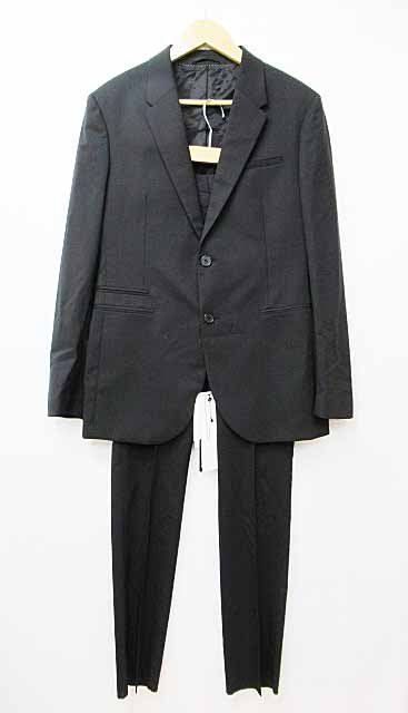 ニールバレット Neil Barrett BAB65-2207 シングル セットアップ スーツ46黒ブラック ブランド古着ベクトル 中古170805 0120 メンズ