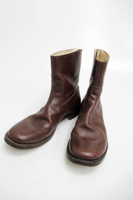 ダブルジェイケイ wjk 13SS バックジップブーツ BOOT ZIP TYPE-21-waxed leather8020 bt02 茶ブラウン43 ブランド古着ベクトル 中古▲180104 0110