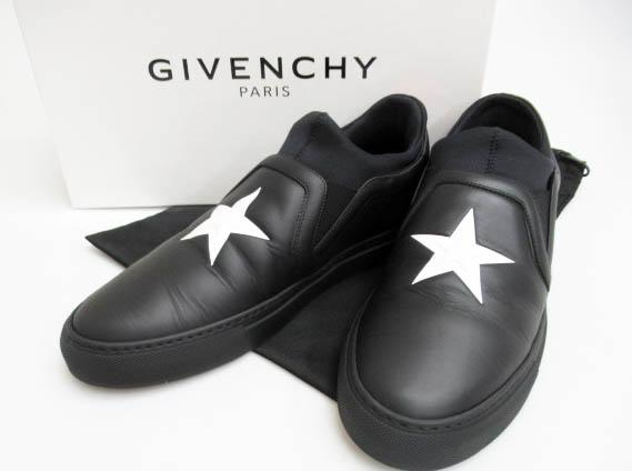 ジバンシィ GIVENCHY 17SS STREET SKATE SOCK スター星スリッポン 42.5 BLACK/WHITE 黒ブラック ブランド古着ベクトル 中古▲180228 0150