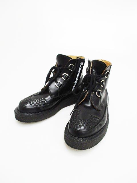 マスターマインド mastermind JAPAN ×GEORGE COX V ZIP D RING CHUKKA 17SS ラバーソール ブーツ 7 1/2 ブラック ブランド古着ベクトル 中古▲ 180810 0180 103 プリマベーラ