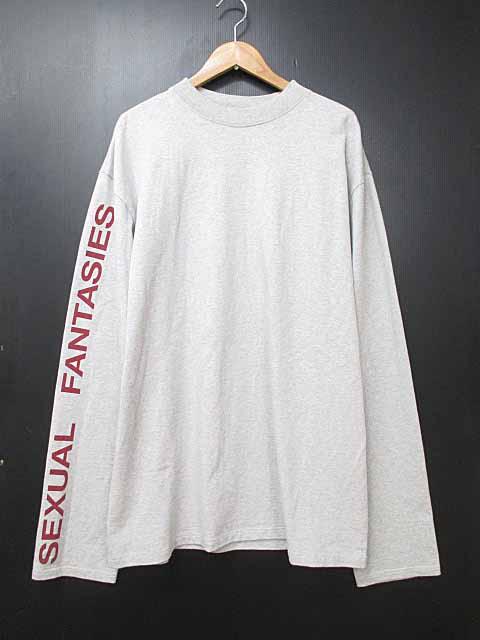 【中古】VETEMENTS ヴェトモン 16AW Sexual Fantasies Cotton ロングスリーブTシャツ Mグレー ブランド古着ベクトル 中古☆AA★180823 0340 メンズ プリマベーラ