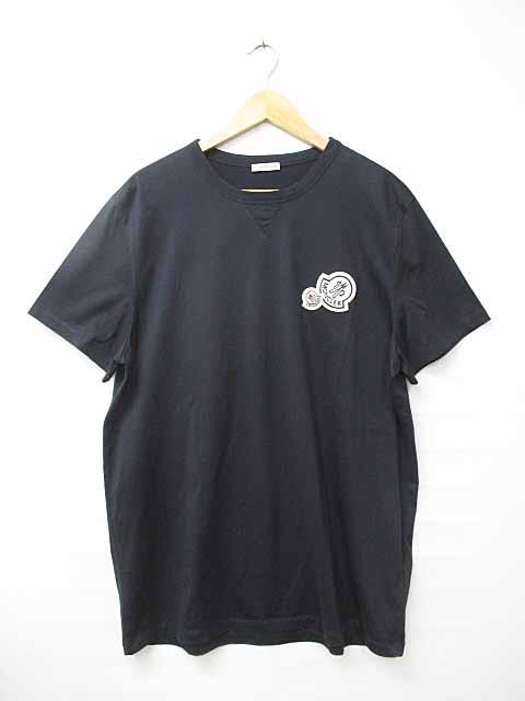 モンクレール MONCLER 18SS Moncler Maglia T Shirt ロゴワッペン Tシャツ XXL黒ブラック ブランド古着ベクトル 中古181006 0090 メンズ 【中古】【ベクトル 古着】 181007 プリマベーラ