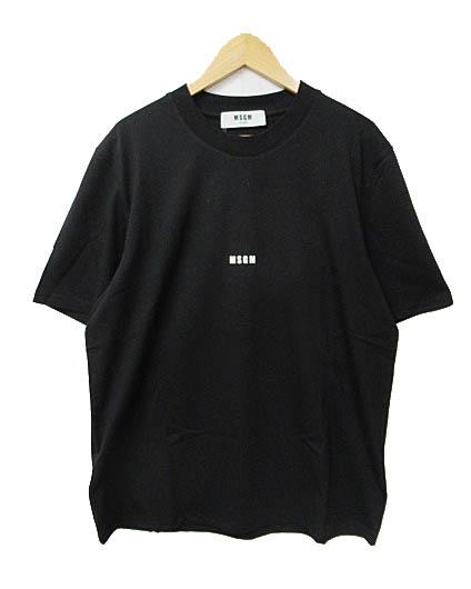 エムエスジーエム MSGM 18AW フロント ロゴ Tシャツ 半袖 2540MM162 XL黒ブラック ブランド古着ベクトル 中古181014 0050 メンズ 【中古】【ベクトル 古着】 181014 プリマベーラ