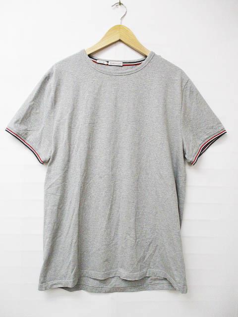 モンクレール MONCLER MAGLIA T-SHIRT マリア クルーネック 半袖Tシャツ XXL グレー ブランド古着ベクトル 中古181022 0075 メンズ