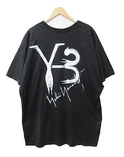 ワイスリー Y-3 18SS Y-3 TEE ART1 バックプリント半袖Tシャツ XL黒ブラック ブランド古着ベクトル 中古181103 0040 メンズ 【中古】【ベクトル 古着】 181103 プリマベーラ