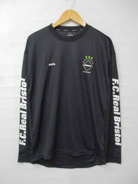 エフシーレアルブリストル F.C.Real Bristol FCRB 未使用 17SS L/S TRAINING BIG TEE トレーニング ビッグ ロングTシャツ S 黒ブラック ブランド古着ベクトル 中古181120 0085 メンズ