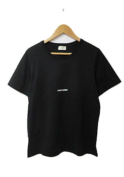 サンローラン パリ SAINT LAURENT PARIS 17SS ロゴ プリント半袖Tシャツ L黒ブラック ブランド古着ベクトル 中古☆AA★181208 0120 メンズ 【中古】【ベクトル 古着】 181208 プリマベーラ