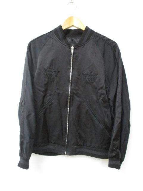 【中古】マーカ marka 17AW EMBROIDERED SOUVENIR JACKET 刺繍 リバーシブル ジャケット スカジャン 1 ブラック ブランド古着ベクトル 中古190225 0050 メンズ
